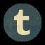 Retro Tumblr Rounded Icon
