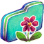 Flower Green Folder icon
