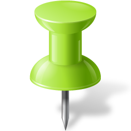 Map Marker Push Pin 1 Chartreuse-256