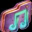 Music Alt Violet Folder icon