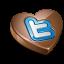 Twitter chocolate icon