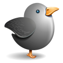 Twitter grey bird-128