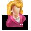 3D User Female Icon