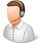Tech Support Male Light icon