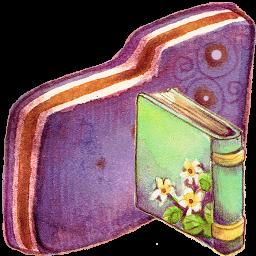 Book Violet Folder