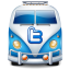 Twitter van blue icon