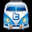 Twitter van blue Icon