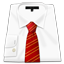 Man Shirt Red Tie icon