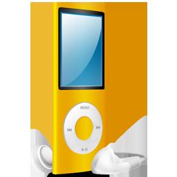 iPod Nano yellow on