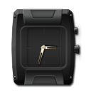 Clock Black and Gold-128