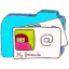 Folder b contacts Icon