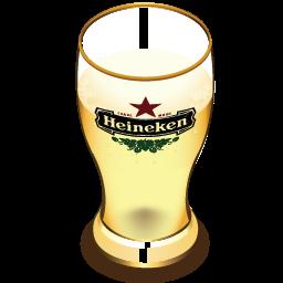 Heineken beer glass