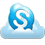 Skype cloud icon