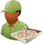 Pizzadeliveryman Male Dark icon