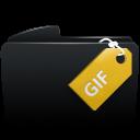 Folder black gif-128