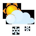 Sun lightcloud sleet
