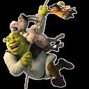 Shrek Donkey and Puss Flying-128