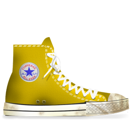 Converse Yellow dirty