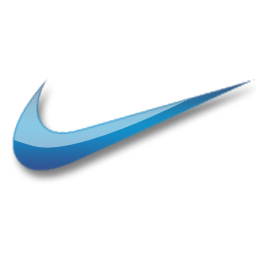 Nike blue logo