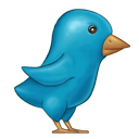 Painted Twitter Bird-128