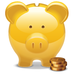 Piggy Bank golden