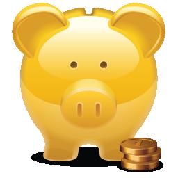 Piggy Bank golden