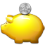 Golden Piggy Bank icon