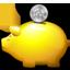 Golden Piggy Bank Icon