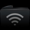 Folder black wifi-128