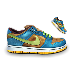 Nike Dunk Blue & Brown