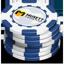 Blue Casino Chips-128
