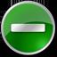 Minus circle green Icon