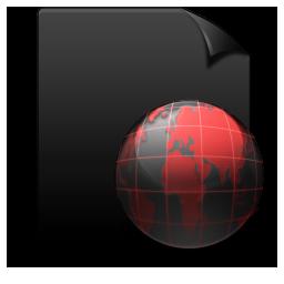 File Web black red