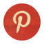 Retro Pinterest Rounded Icon