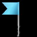 Map Marker Flag 4 Left Azure-128
