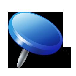 Drawingpin2 blue