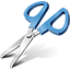 Blue Scissors Icon