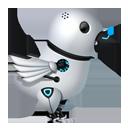 Futuristic Twitter Bird-128