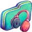 Music Green Folder icon
