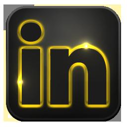 Linkedin neon glow