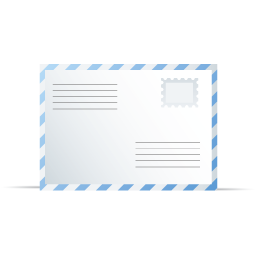 Blue White Envelope