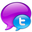 Small Twitter Logo in Blue-64