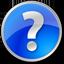 Help circle blue icon
