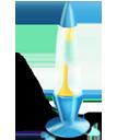 Lamp yellowblue-128