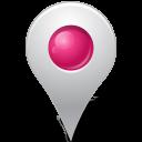 Map Marker Marker Inside Pink-128