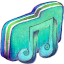 Music Alt Green Folder icon