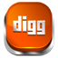 Digg red button icon