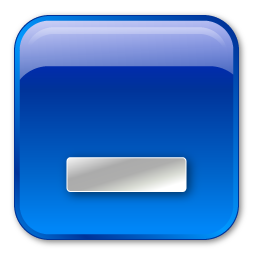 Minimize box blue