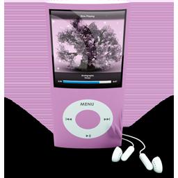 Pink iPod 4rth Generation