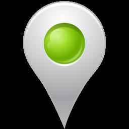Map Marker Marker Inside Chartreuse